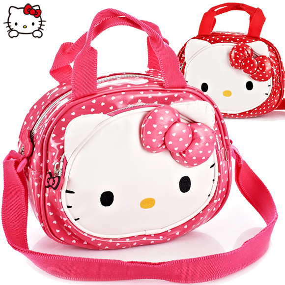 Free shipping authentic hello kitty kt cat hello kitty kindergarten students bag messenger bag leisure bag travel bag
