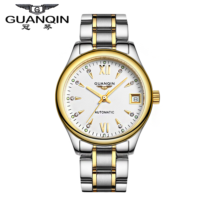 Free shipping crown piano authentic men's watches automatic mechanical watch men watch waterproof luminous thin belt male form to send