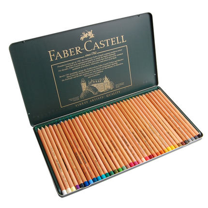 Free shipping faber green tin 12/24/36 color pastel colored pencil lead pencil artist grade toner