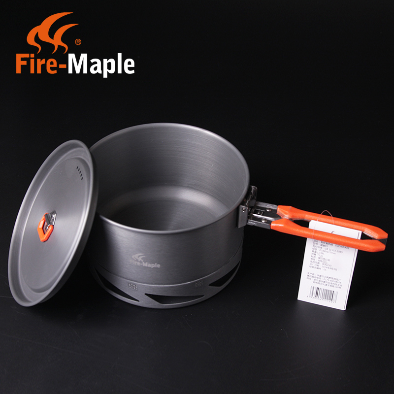 Free shipping fire maple feast k2 collectors single pot and 2 people rigid aluminum cookware camping cutlery