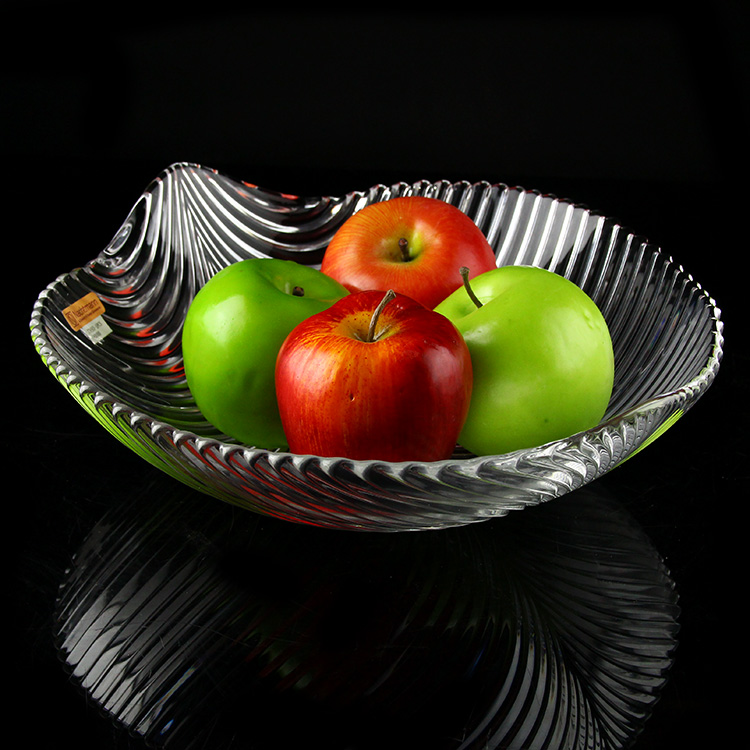 Free shipping germany imported nachtmann creative crystal glass fruit plate salad plate fruit plate minimalist leaves