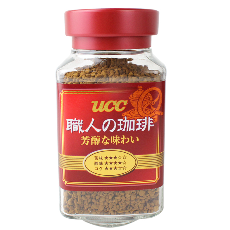 Free shipping japan imported ucc leisurely poems delineators bottled instant coffee powder 90g staff person without accompanying companion black coffee