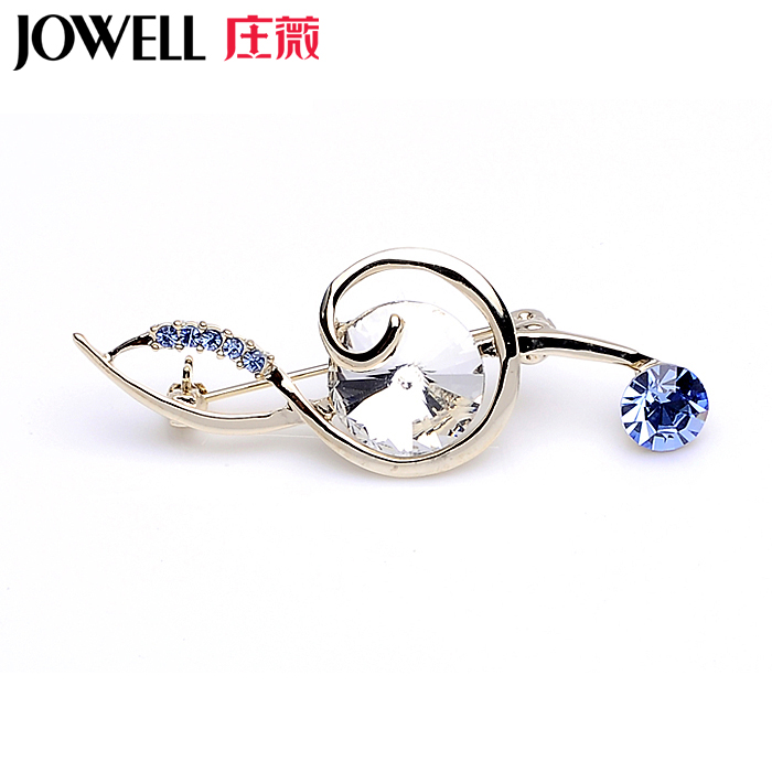 Free shipping jewelry accessories female suit new fashion alloy diamond notes corsage brooch pin brooch korean version of 866