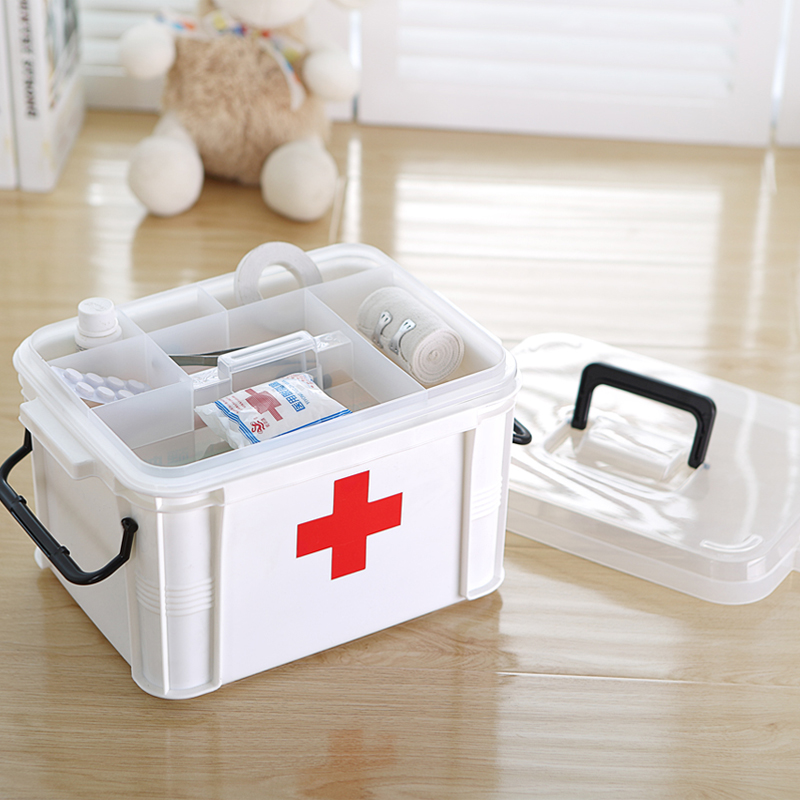 Free shipping king family medicine cabinet multilayer storage emergency health kits household plastic boxes