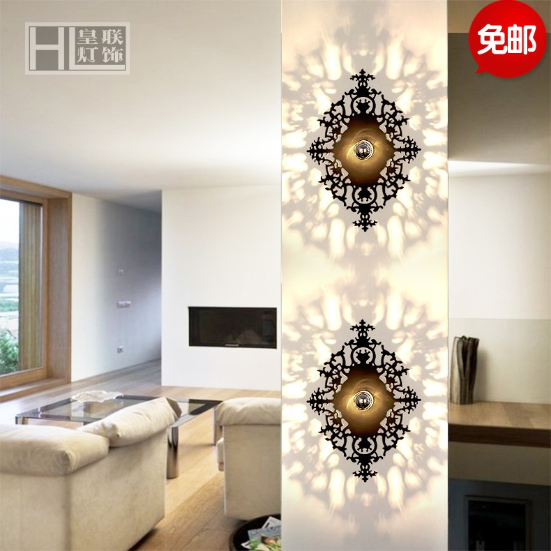 Free shipping living room tv background wall art wall lamp wall lamp wall lamp bedside lamp wall lamp bedroom lamp creative led wall lamp wall lamp