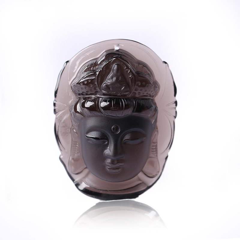 Free shipping natural ice kinds of obsidian pendant head guanyin guanyin pendant pendant natal exquisite atmosphere
