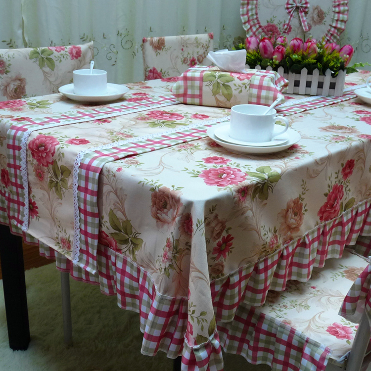Free shipping new coffee table cloth table cloth tablecloth hotel tablecloth round korean pastoral cloth upholstery coverings can be customized