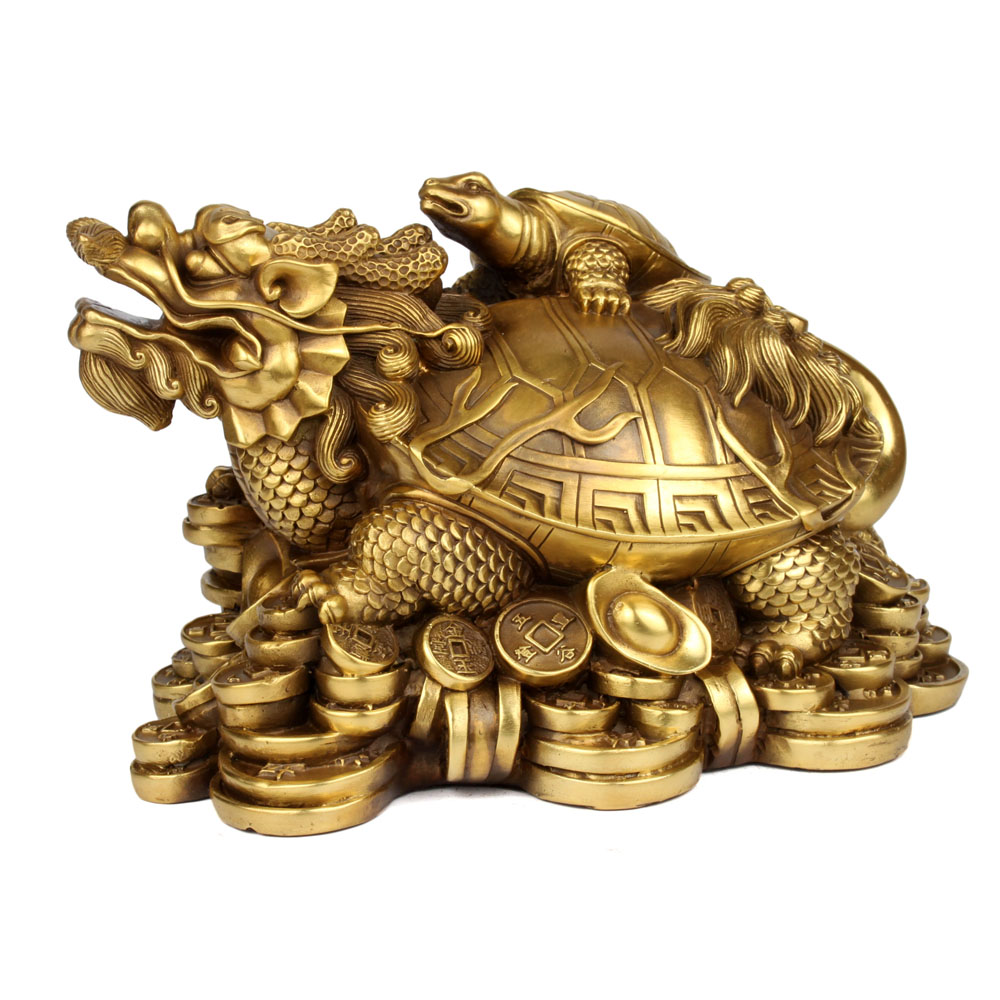 Free shipping open light copper dragon turtle ornaments lucky office furnishings ornaments crafts gifts copper dragon turtle turtle leading