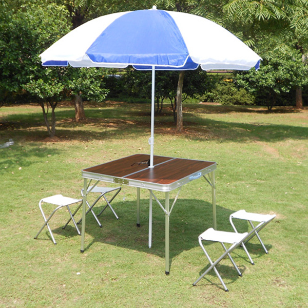 Free shipping outdoor aluminum split portable folding tables and chairs folding table advertising table picnic table barbecue tables and chairs mahjong