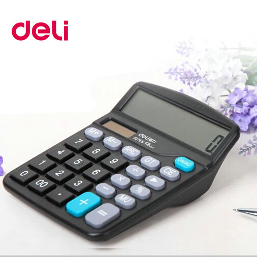 [Free shipping over 100 minus 5] deli deli 837es calculator 12 solar dual power calculator big screen