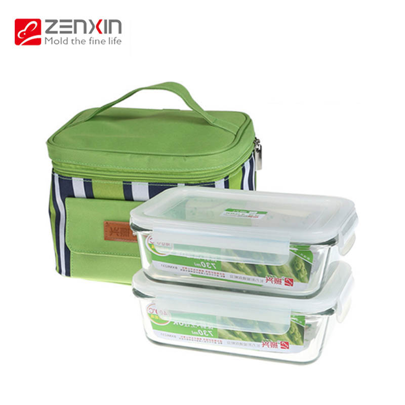 Free shipping revitalization glass pyrex refrigerator crisper microwave lunch box large capacity bento box lunch round/square suit
