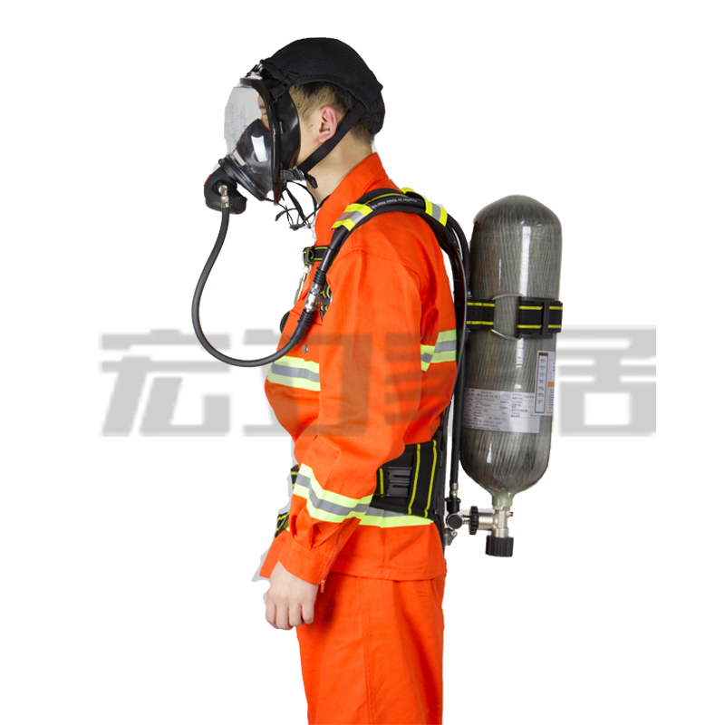 Free shipping rhzkf6.8/30 scba firefighting air respirator 6.8l carbon fiber