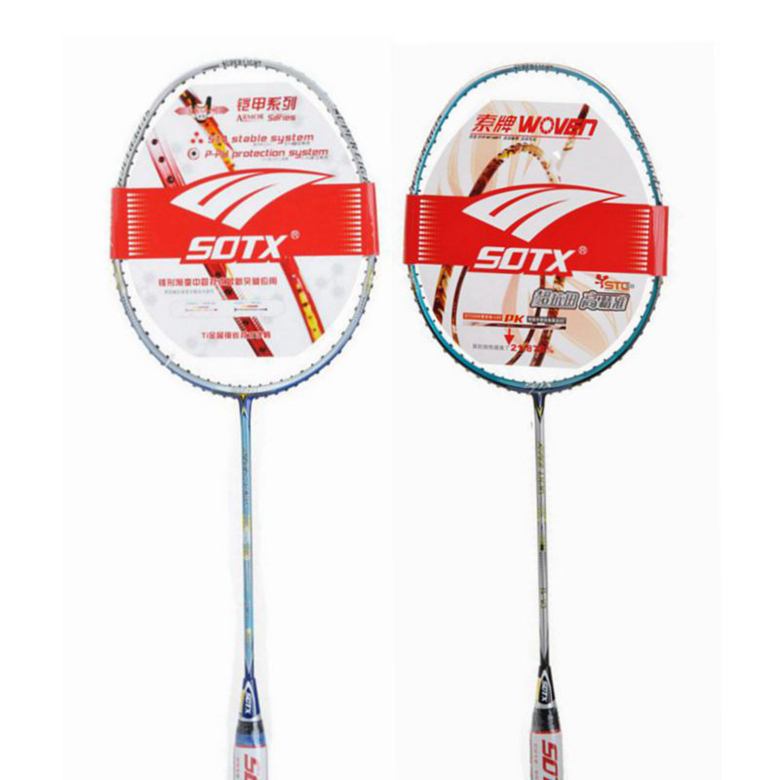 Free shipping sotx/suodeshisuo brand badminton racket badminton racket ultralight LGU1U3 offense type single and double shot badminton racket
