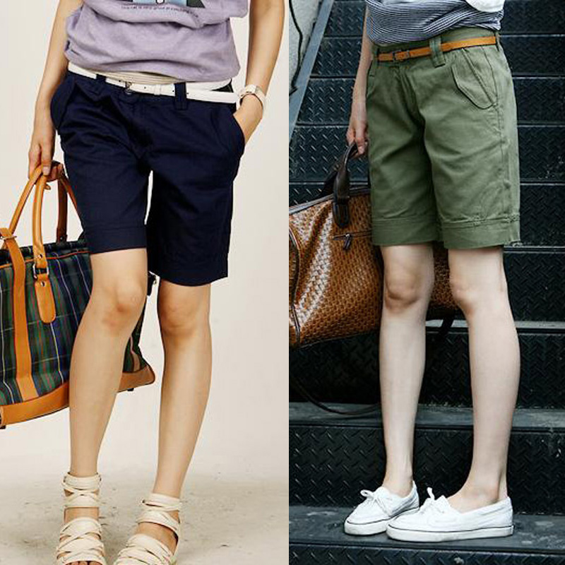 Free shipping summer 2016 korean version of casual pants five pants female summer was thin loose big yards fat mm harem pants shorts