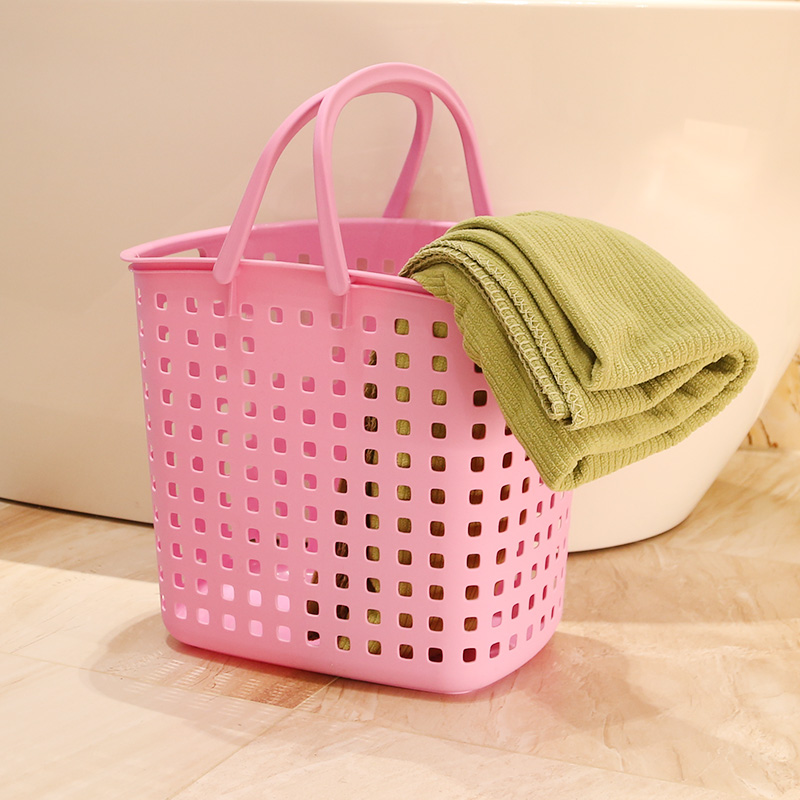 Free shipping thick portable plastic laundry basket laundry basket of dirty clothes storage basket of dirty clothes basket storage basket laundry baskets large