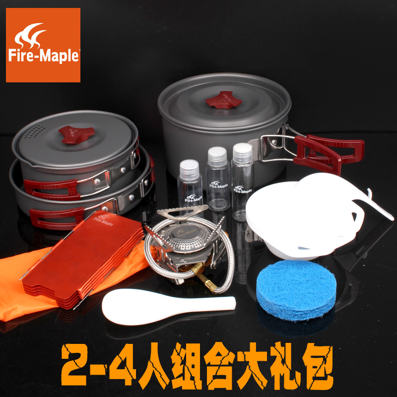 Free shipping value spree 6  105 person outdoor camping gas stove fire maple fire maple cookware windshield kit