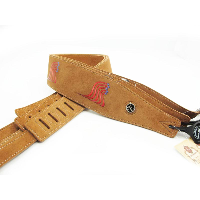 Free shipping-vorson suede leather guitar strap electric bass guitar strap electric guitar strap F-P205-1
