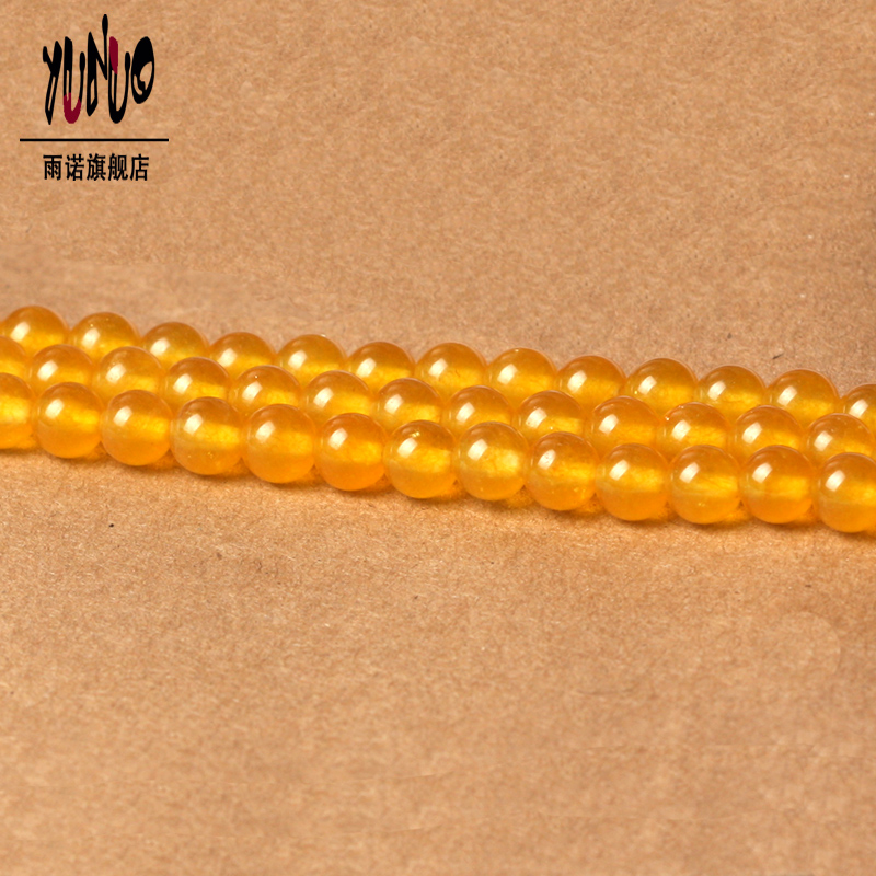 Free shipping yellow chalcedony semifinished loose beads diy handmade beaded jewelry accessories crystal beads loose beads jewelry woman