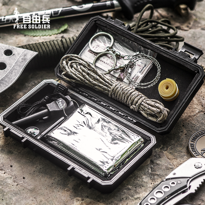 Freedom soldiers outdoor wilderness survival pack multifunction camping survival tool kit first aid kit earthquake rescue package