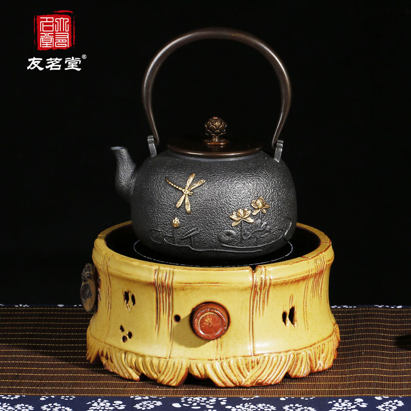 Friends of the ming tang household electric ceramic stove iron kettle iron kettle electric ceramic cooker stove mute mini electric tea making facilities