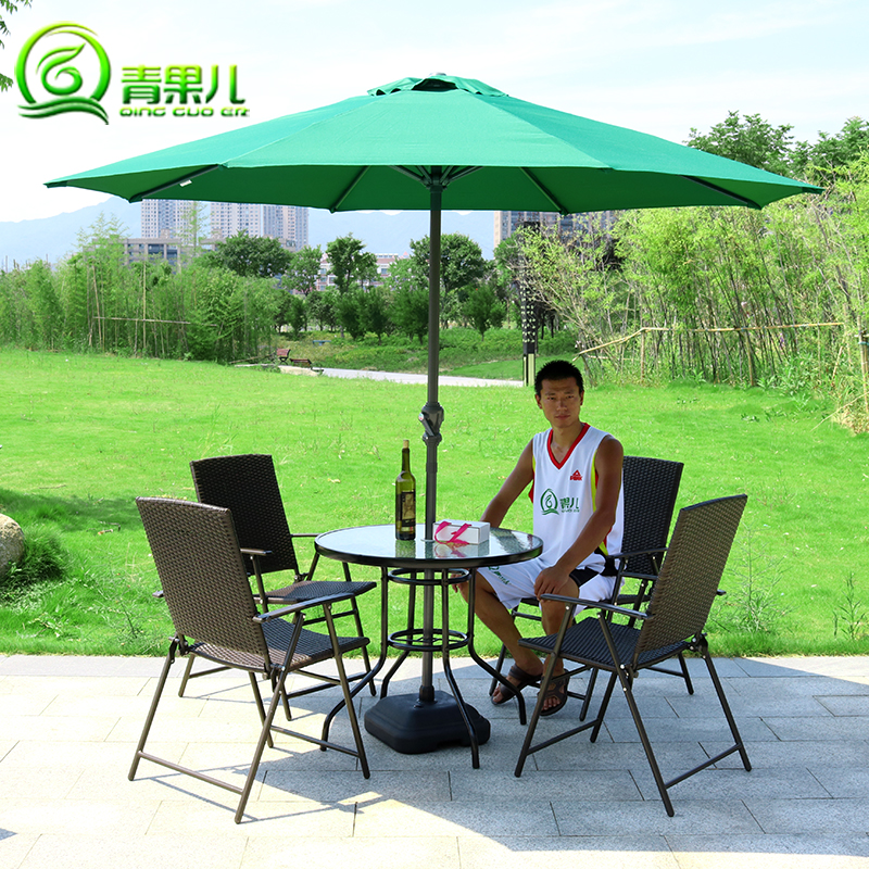 Fruit children leisure suite balcony patio outdoor furniture rattan folding wrought iron tables and chairs combination kit direct