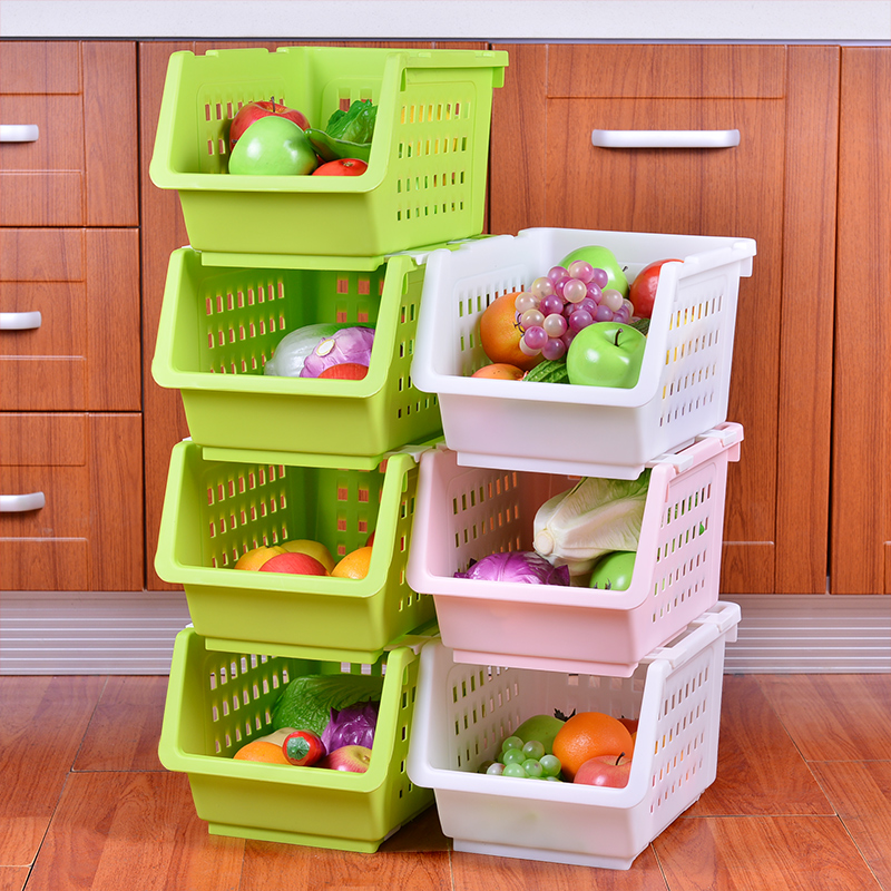Fruits and vegetables pulley kitchen shelving storage rack storage rack kitchen supplies storage rack finishing