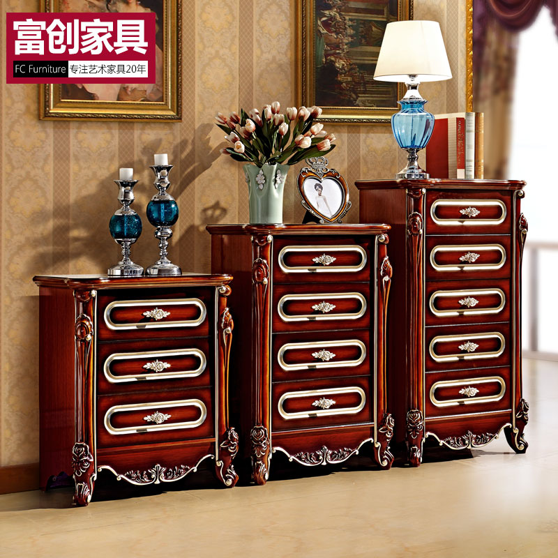 Fu chong euclidian chest of drawers four doo cabinet storage cabinet drawer storage cabinets living room bedroom three bucket cabinet chest of drawers Cupboard