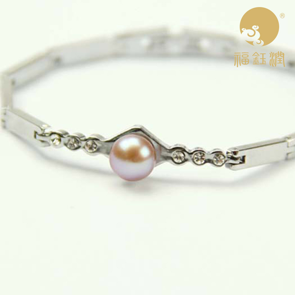 Fu yu yun brand light subtle flaw freshwater pearl bracelet bracelet bracelet fashion to send his girlfriend for her mother to send earrings