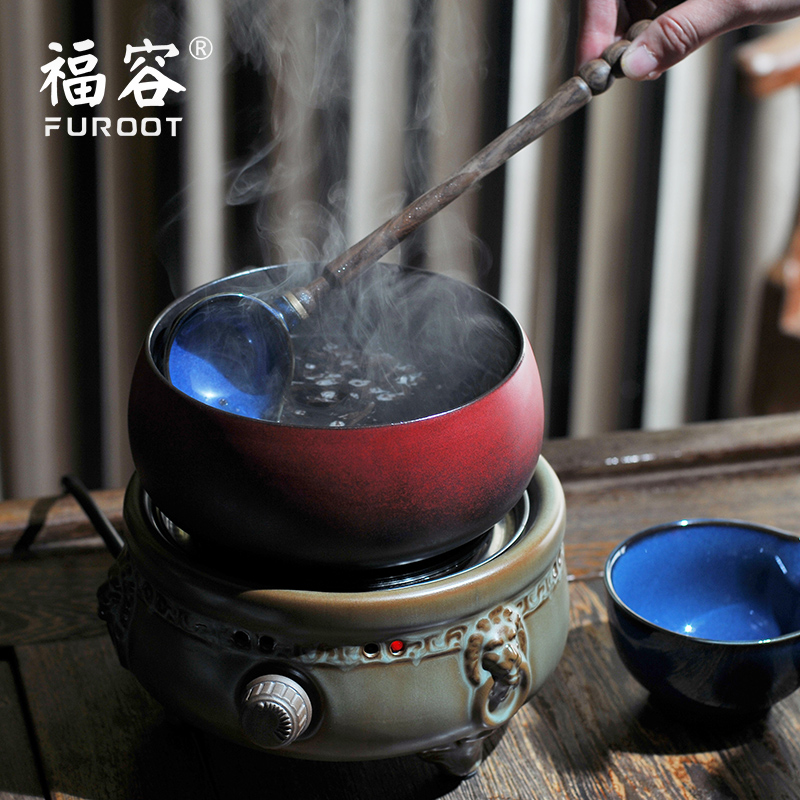 Fullon health jug household electric ceramic stove tea kettle tea kettle teapot ceramic pot pot electric ceramic stove tea Special shipping