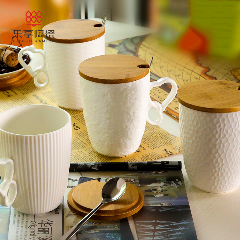 Fun in european embossed ceramic coffee cup milk cup cups office cup mug cup creative