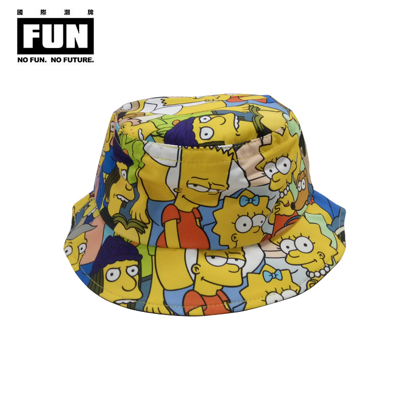 7a63ae4dd837a Fun international cartoon simpson tide brand new winter hat with bucket hats  for men and women