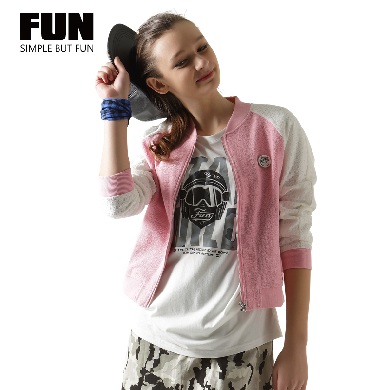 Fun international tide brand baseball uniform jacket female loose woman was thin slim jacket student short coat cardigan jacket