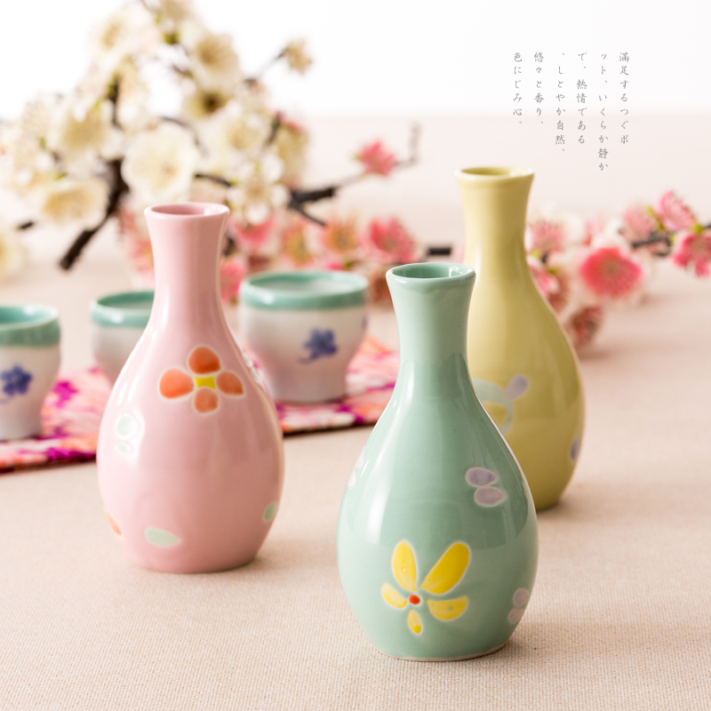 Fun tao habitat petals imported from japan japanese wind underglaze painted glaze jug of sake
