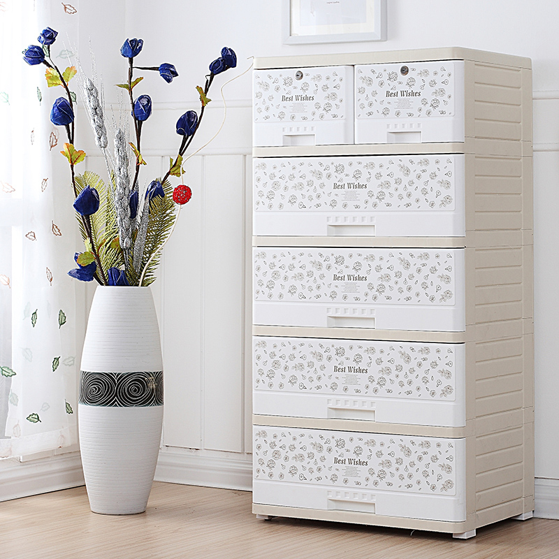 Fuqiang plastic drawer storage cabinets multilayer wardrobe baby toys for children finishing lockers chest of drawers child