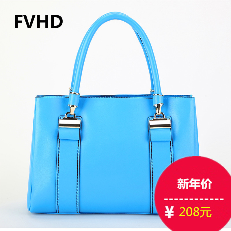 Fvhd 2016 spring and summer new european and american oil wax cowhide leather handbag ms. portable shoulder bag diagonal single