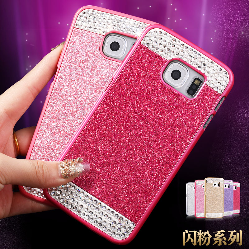 Galaxys6edge SMG9250 s6edge samsung mobile phone shell protective sleeve rhinestone hard G9250 curved screen