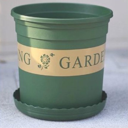Gallon plastic pots pots pots 1-gallon 3,2 green printing round pots, deep type pots feed tray