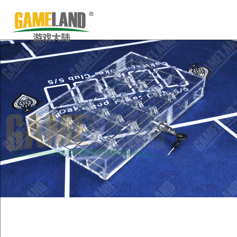 Game continent 500 yards transparent acrylic box with lock box chips chips frame club competition dedicated