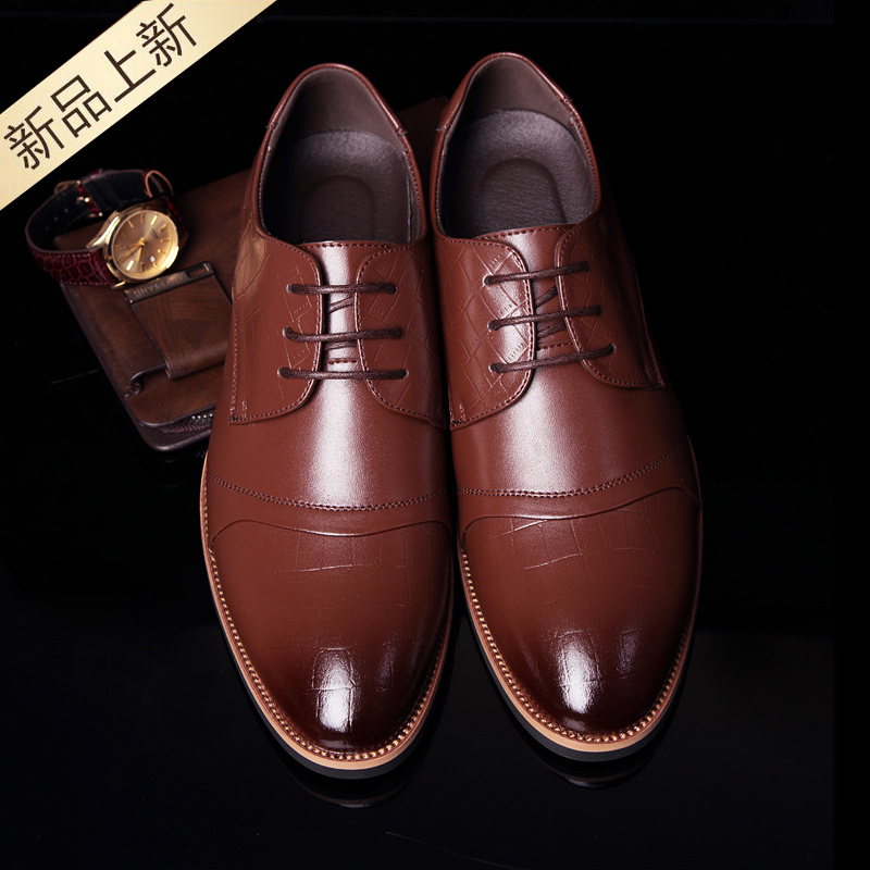 Ganges ganges shark shark influx of men british style business office shoes stylish and comfortable lace shoes leather shoes