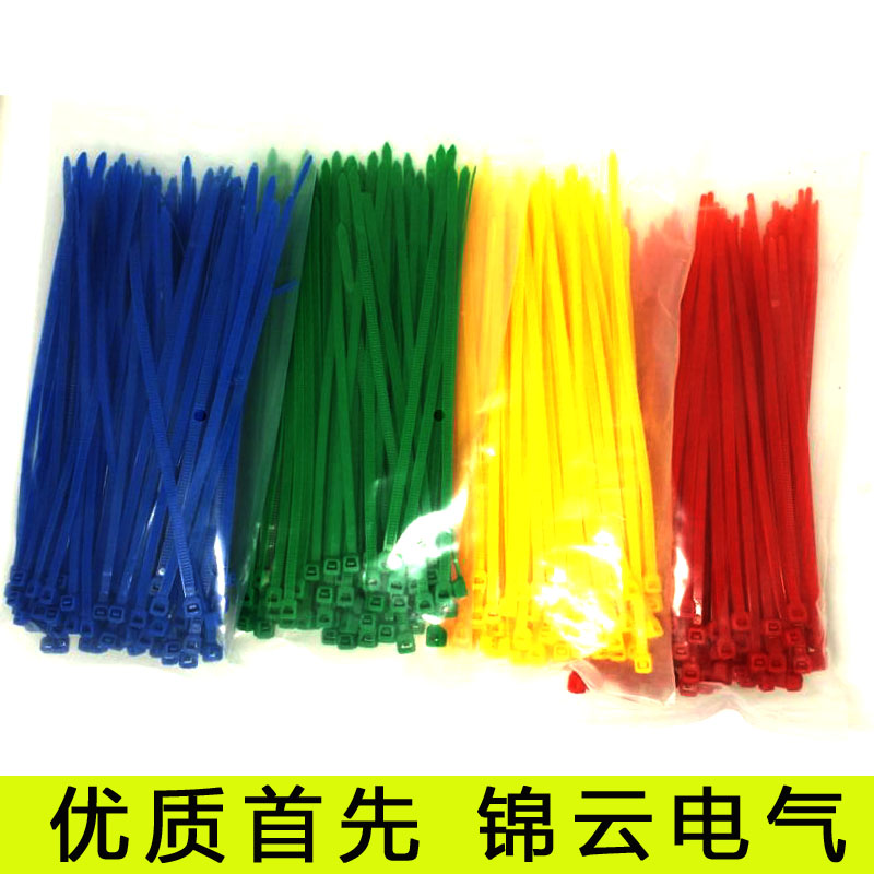 Gb environmental self locking ligation 3*200 article 100 color color tie nylon cable tie plastic cable ties