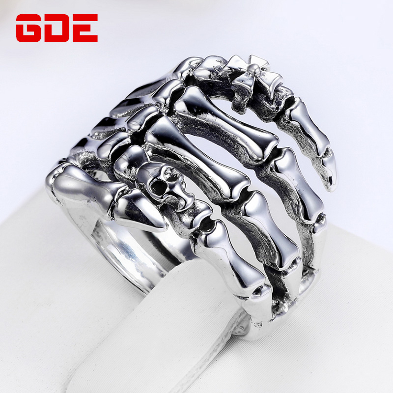 Gde cross retro thai silver ring 925 silver jewelry personalized influx of men skull grip rings men's jewelry