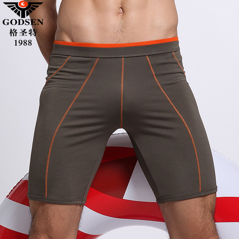 24f446abb16 Get Quotations · Ge shengte new professional men's swim trunks fifth long  section of fashion boxer swim trunks swimming