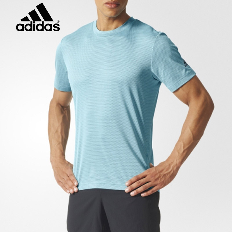 Genuine adidas/adidas 2016 summer sports and leisure breathable men short sleeve round neck t-shirt AH9952