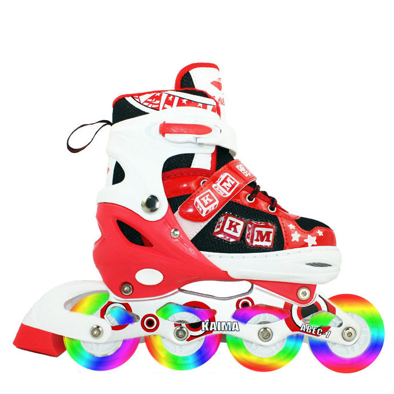 Genuine adjustable skates for children full suite inline skates roller skates inline skates adult men and women skate adjustable flash