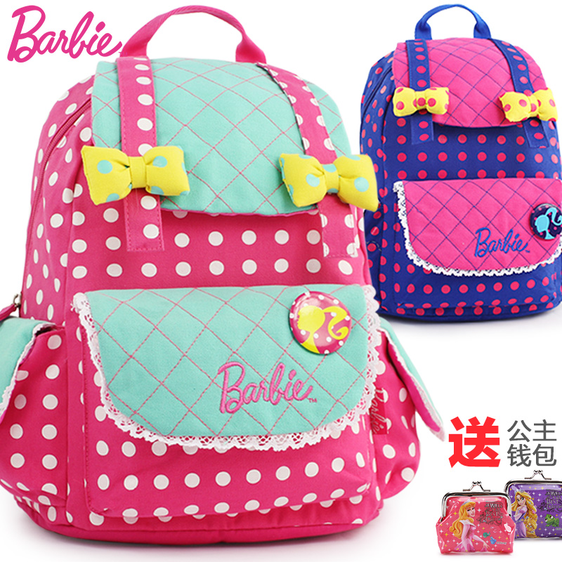 Genuine barbie princess child girls schoolbag kindergarteners first grade children shoulder bag baby backpack schoolbag
