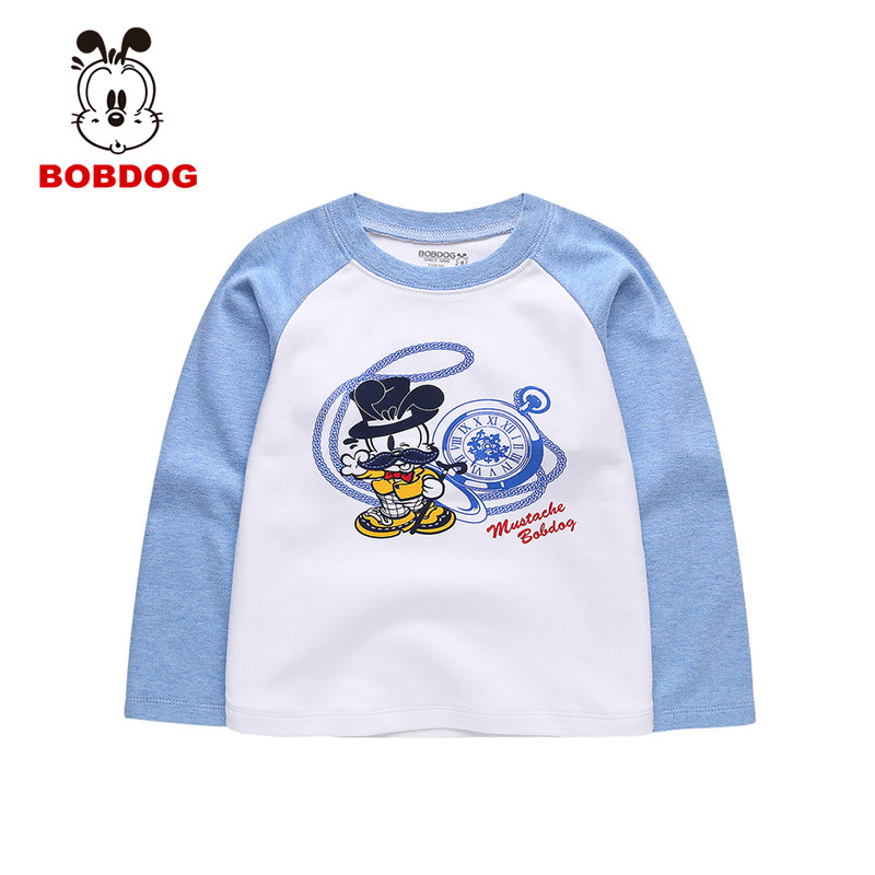 Genuine bob dog boys in children's cartoon t-shirt long sleeve t-shirt children baby sleeve head cartoon casual t-shirt