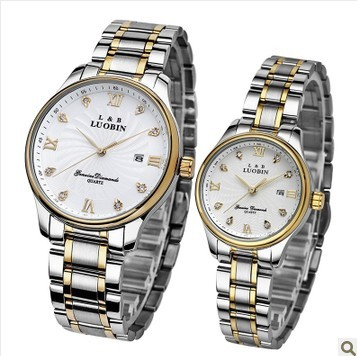 Genuine brand robin thin diamond couple watch on the table business couple watches for men and women one pair price