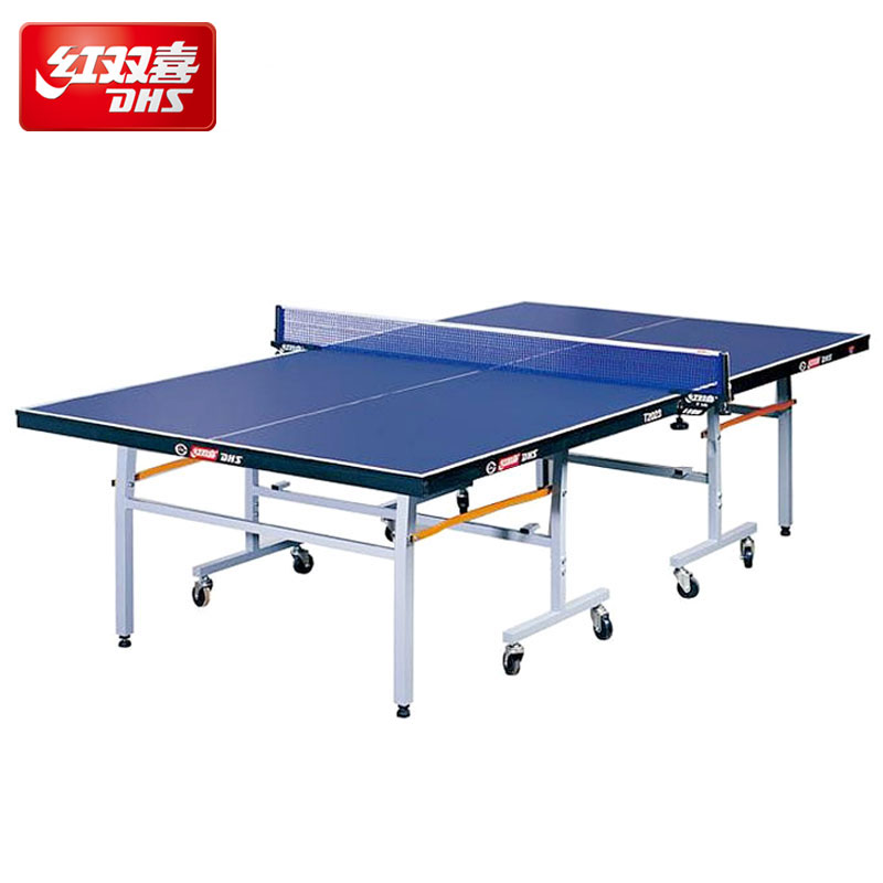 Genuine dhs table tennis table tennis ppq standard indoor table tennis table t2023 household folding table tennis table tennis case