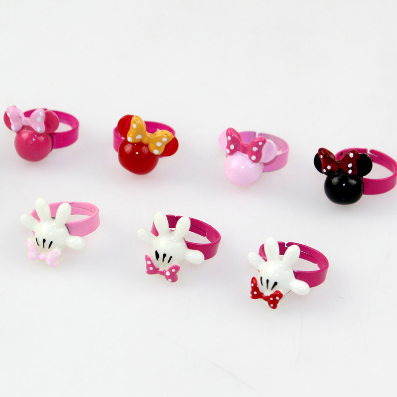 Genuine disney children's jewelry accessories korean children ring ring girls minnie baby a