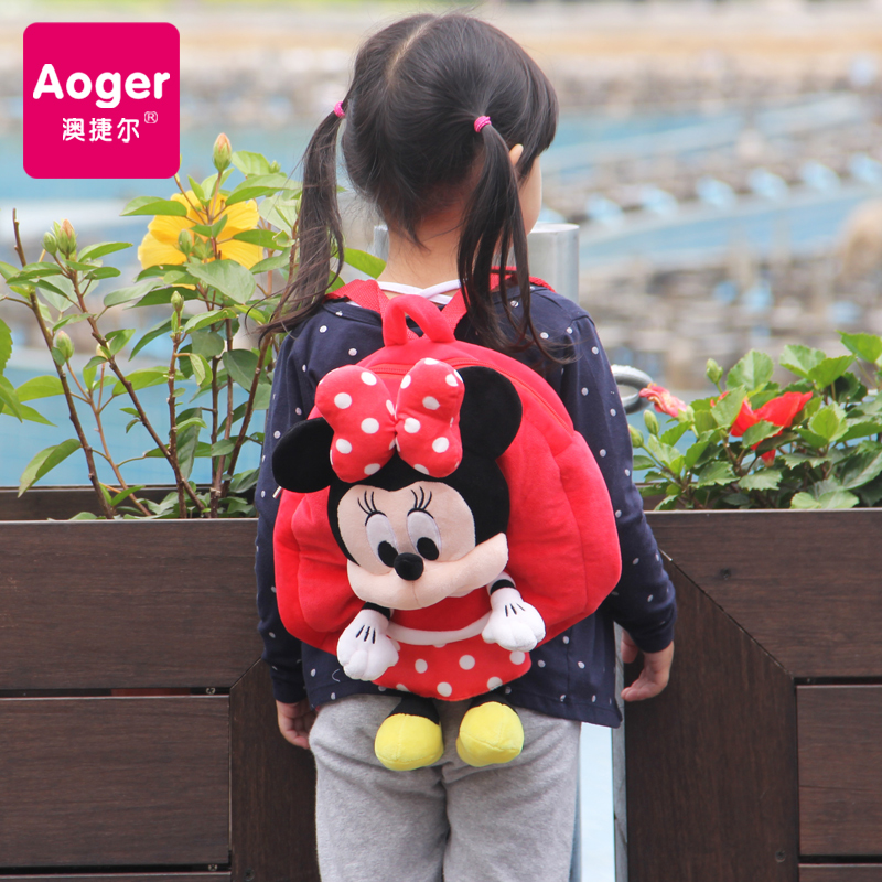 Genuine disney mickey kindergarten students bag medium and small classes for boys and girls shoulder bag small backpack